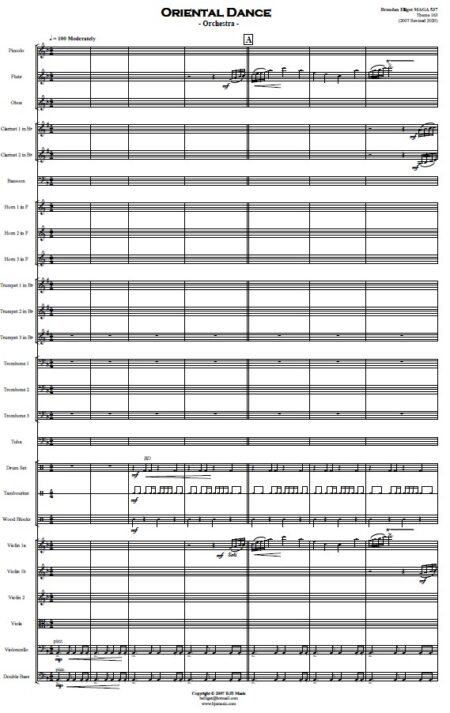 404 Oriental Dance Orchestra SAMPLE page 01