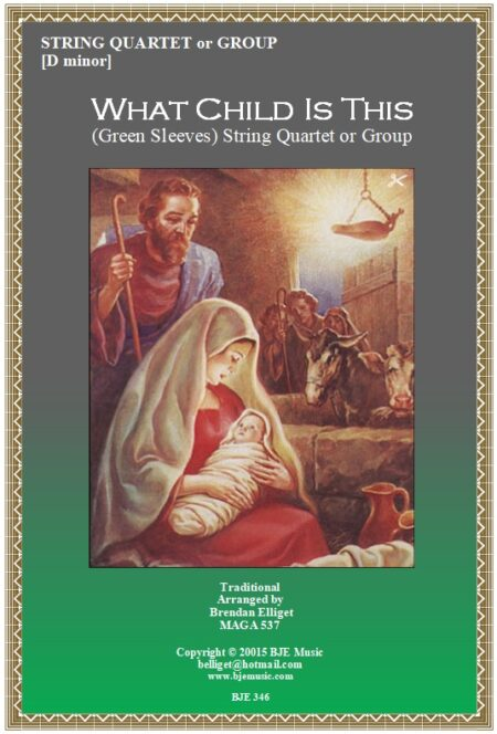 346 FC What Child Is This String Quartet or Group