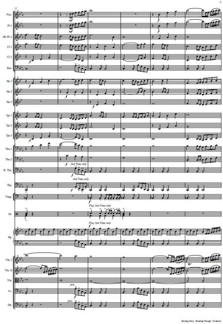 360 Morning Glory Breaking Through Orchestra SAMPLE page 03