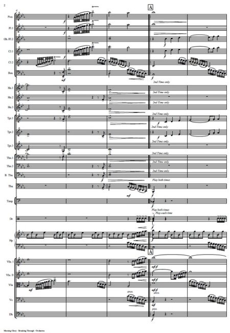 360 Morning Glory Breaking Through Orchestra SAMPLE page 02