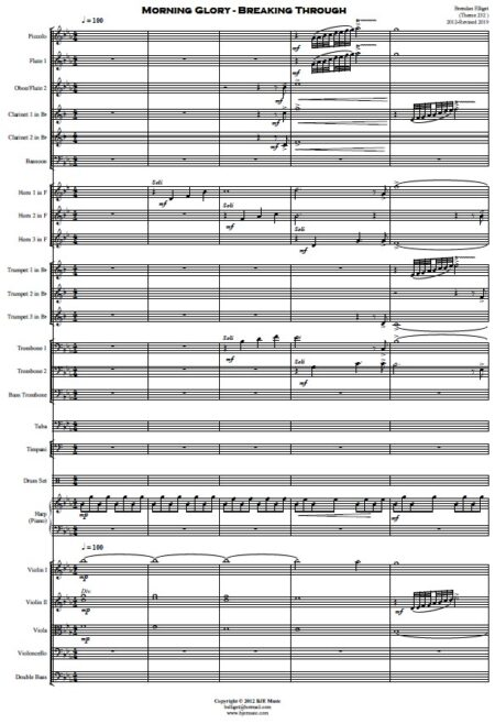 360 Morning Glory Breaking Through Orchestra SAMPLE page 01