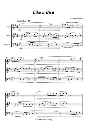 Like a Bird – for Flexible String Trio