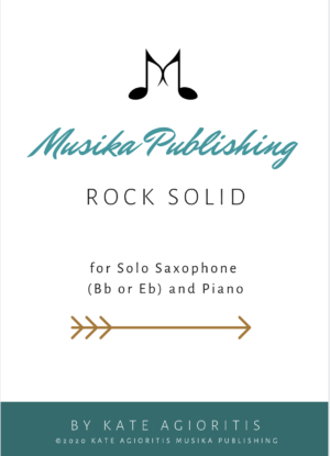 Rock Solid for Saxophone Solo with Piano