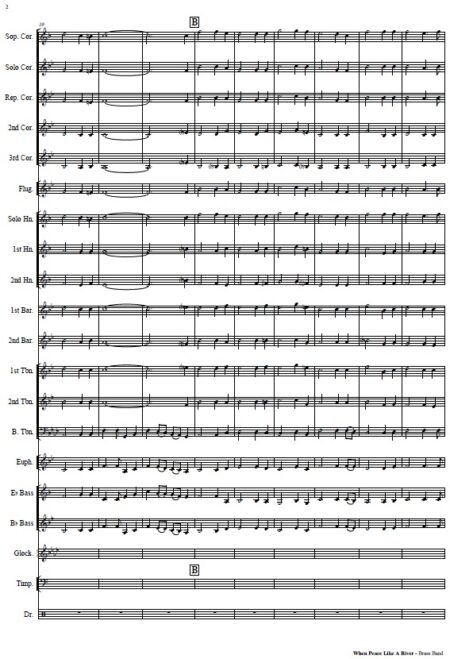 013 v2 When Peace Like A River Brass Band SAMPLE page 02