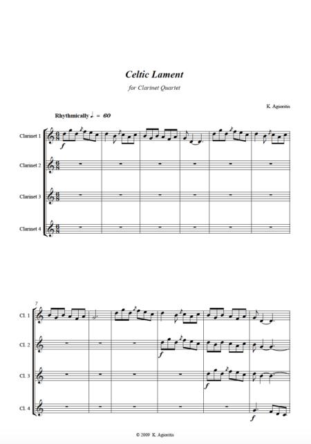 Celtic Lament - Clarinet Quartet