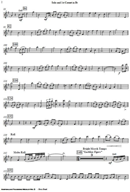 220 Australian Folksong Medley No. 5 Brass Band SAMPLE page 07