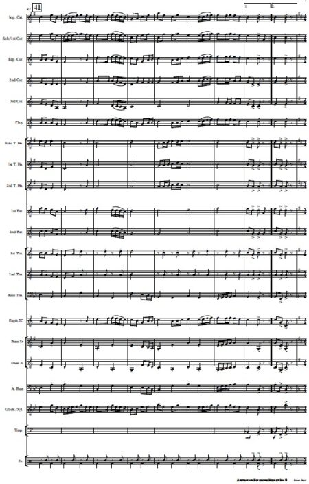 220 Australian Folksong Medley No. 5 Brass Band SAMPLE page 05