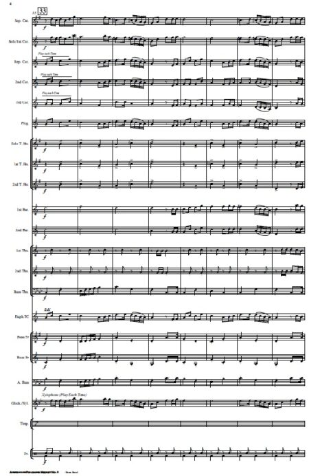 220 Australian Folksong Medley No. 5 Brass Band SAMPLE page 04