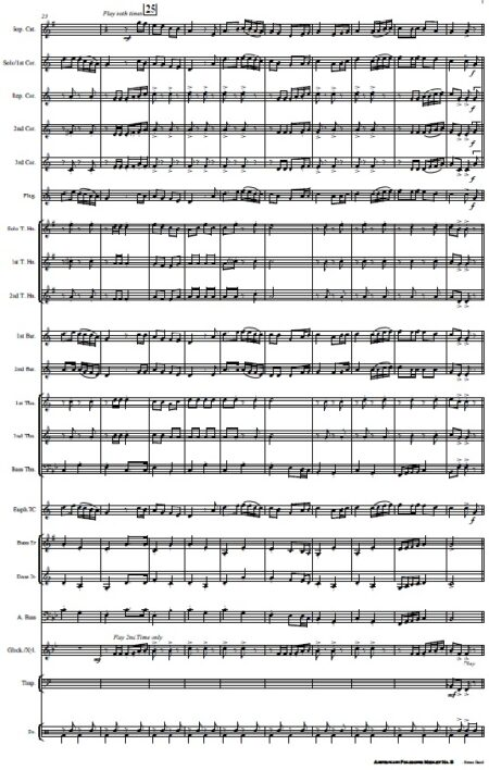 220 Australian Folksong Medley No. 5 Brass Band SAMPLE page 03