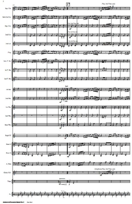 220 Australian Folksong Medley No. 5 Brass Band SAMPLE page 02