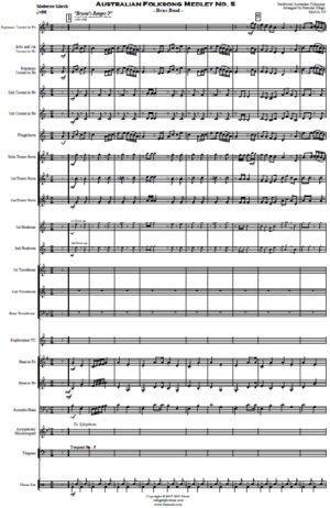 Australian Folksong Medley No. 5 – Brass Band