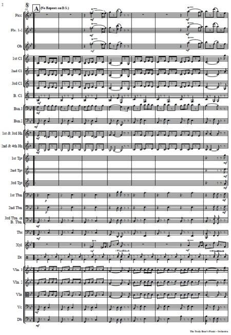 052 The Teddy Bears Picnic Orchestra SAMPLE page 02