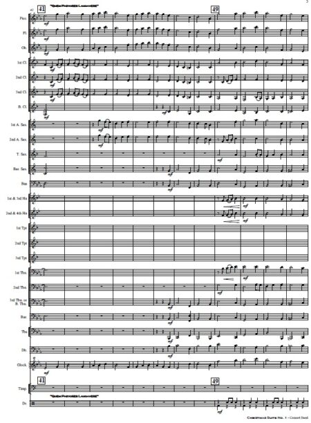 009 Christmas Suite No 1 Concert Band SAMPLE page 05