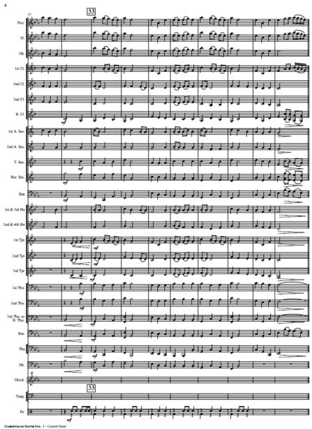 009 Christmas Suite No 1 Concert Band SAMPLE page 04