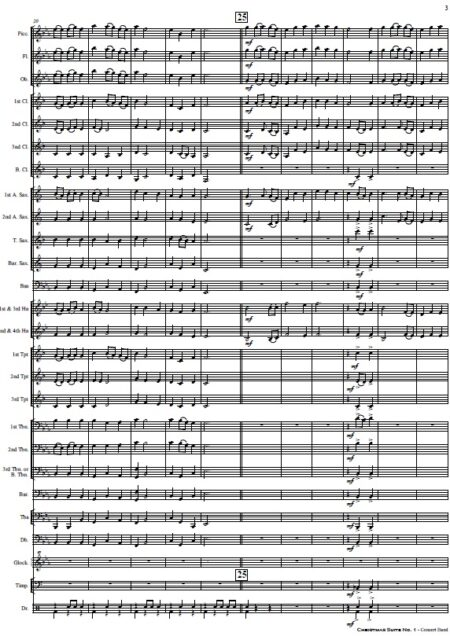 009 Christmas Suite No 1 Concert Band SAMPLE page 03