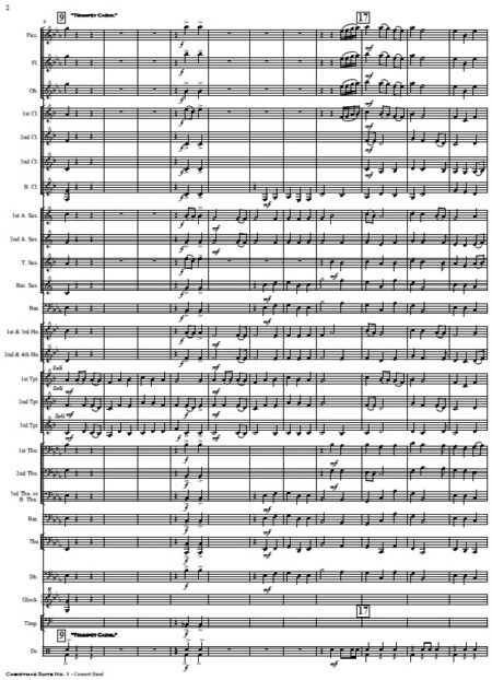 009 Christmas Suite No 1 Concert Band SAMPLE page 02