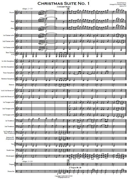 009 Christmas Suite No 1 Concert Band SAMPLE page 01