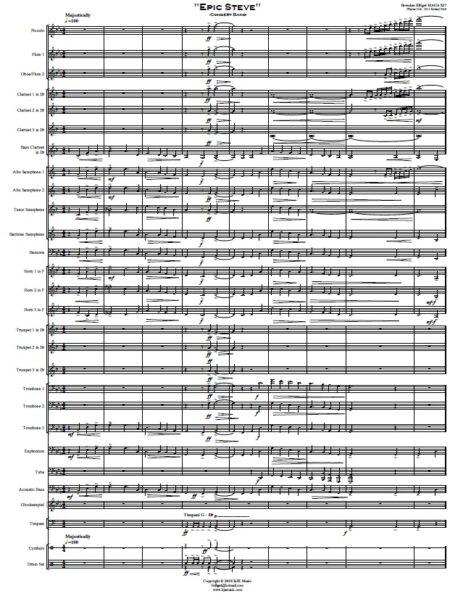 412 Epic Steve Concert Band SAMPLE page 01