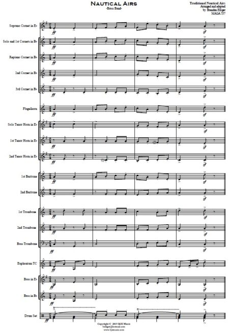354 Nautical Airs Brass Band SAMPLE page 01