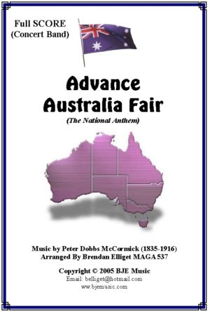 Advance Australia Fair (National Anthem) – Concert Band/ Orchestra