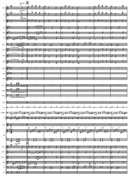 437 Before The Day Ends Concert Band SCORE page 02