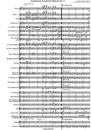 Australian Folksong Medley No. 4 – Concert Band