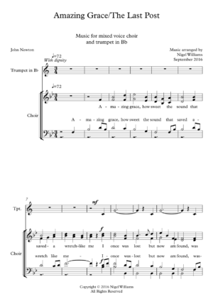 Amazing Grace (SATB Choir), with 'The Last Post' (trumpet)