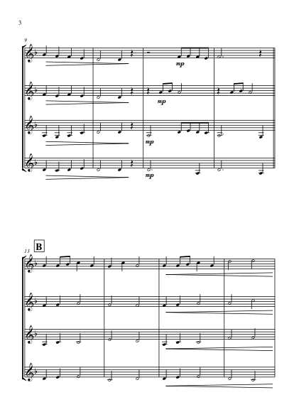 March of the Trolls Clarinet Quartet
