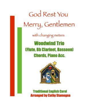 God Rest You Merry, Gentlemen (with Changing Meters) for Brass or Woodwind Trio