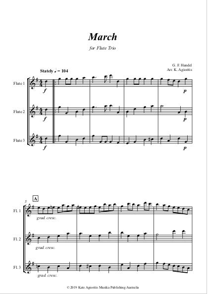 March - Handel - Flute Trio