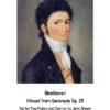 Beethoven serenade Minuet 2 fl cl cover