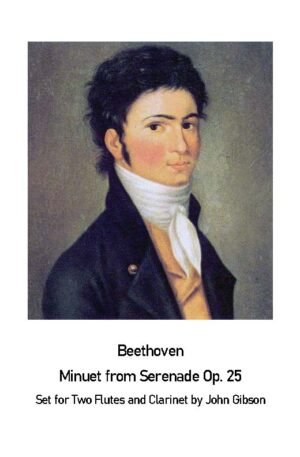 Beethoven Minuet from Serenade Op25 – 2 Flutes and Clarinet