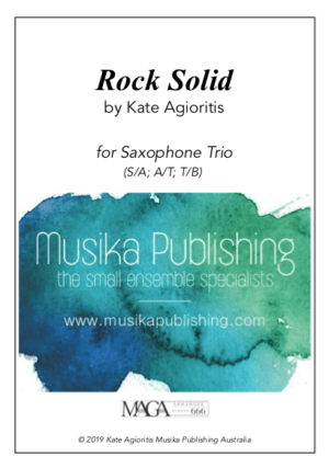 Rock Solid – for Saxophone Trio