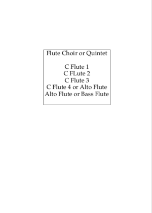 The Skye Boat Song – for Flute Choir
