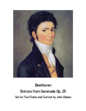 Beethoven Entrada from Serenade Op25 – 2 Flutes and Clarinet