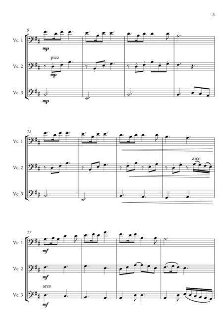 Skye Boat Song Cello Trio