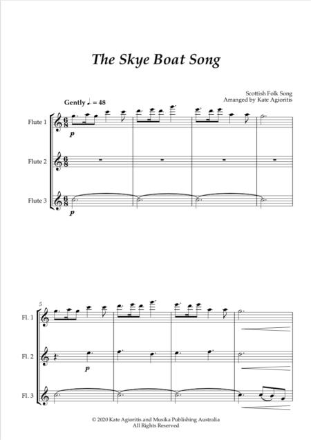 Skye Boat Song Flute Trio