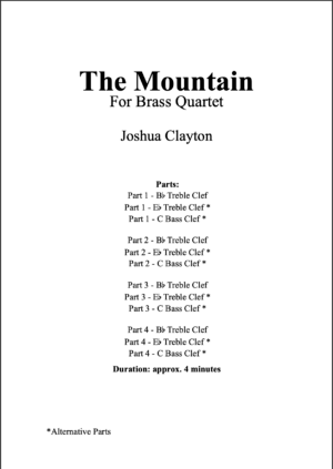 The Mountain – Brass Quartet (Flexible Instrumentation)