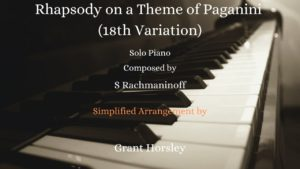 "Rhapsody on theme of Paganini"" (18th variation) Piano Solo"