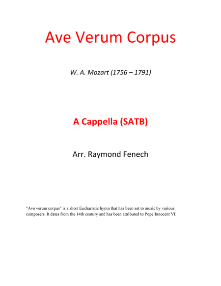 Ave Verum Corpus Cover page converted