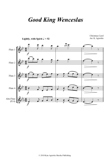 Good King Wenceslas Flute Quartet