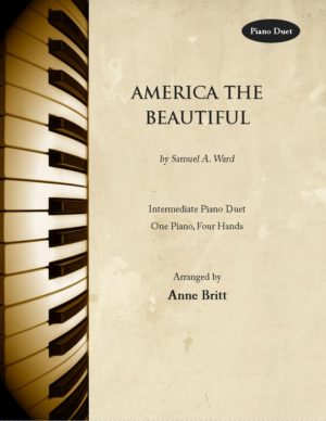 America the Beautiful – intermediate piano duet
