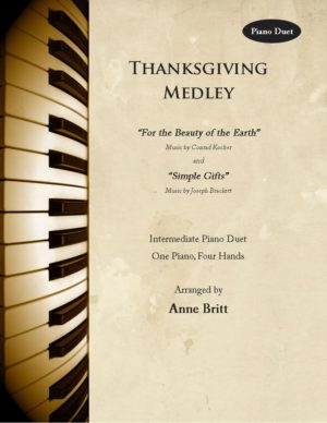 Thanksgiving Medley – intermediate piano duet