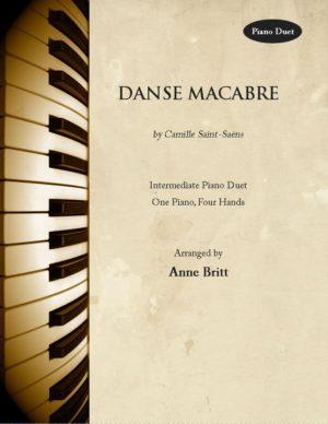 Danse Macabre – intermediate piano duet