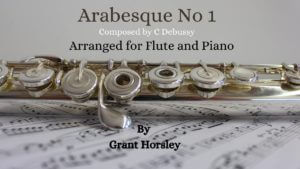 Arabesque no 1 Debussy. Flute and Piano