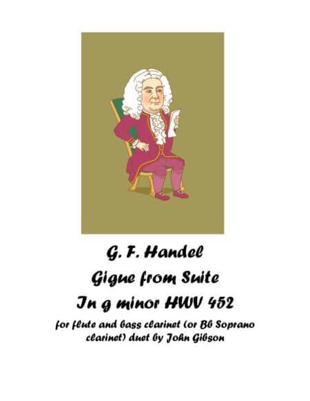 Handel suite fl cl Gigue cover