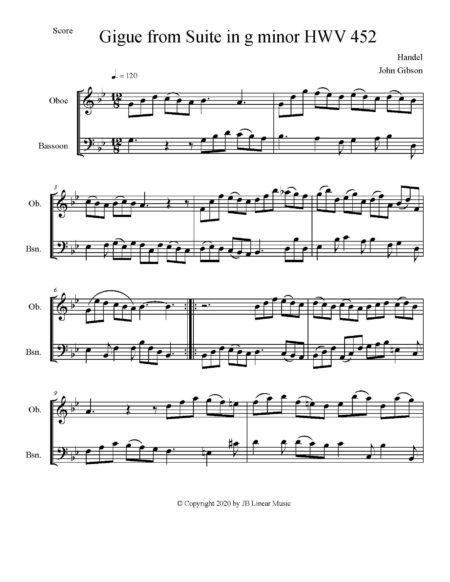 Handel Gigue ob bsn score page