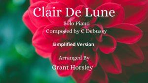 Clair De Lune- Debussy Piano Solo -Simplified version