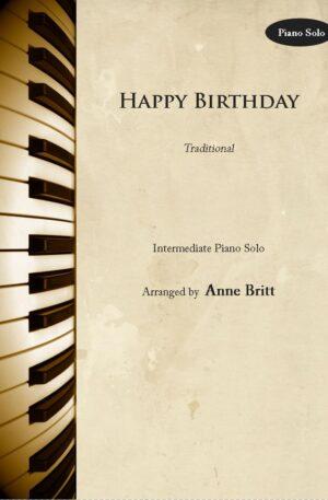 Happy Birthday – intermediate piano solo