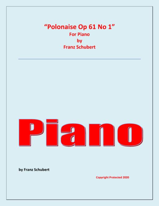Polonaise – F.Schubert – Solo Piano